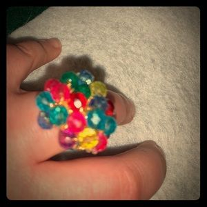 Vintage bulky faux gemstone ring